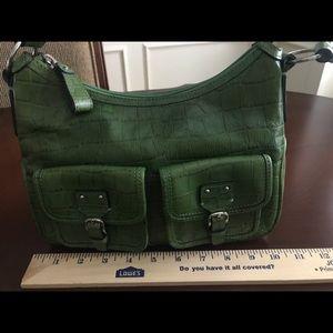 Green Fossil purse / shoulder bag